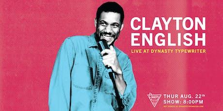 Clayton English tickets