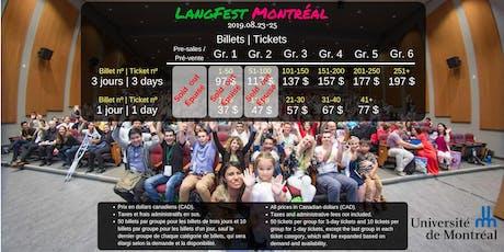 LangFest Montréal: 2019.08.23-25 (08.20-22: Free social activities/Activités sociales gratuites) tickets