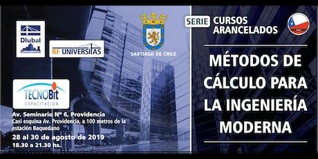 Métodos de cálculo para la ingeniería moderna - Curso en su ciudad - Santiago de Chile entradas