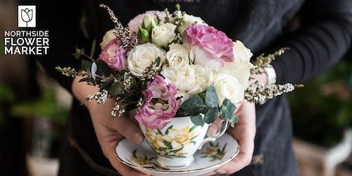 Floral Vintage Teacup Workshop