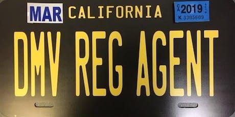 Stockton DMV Registration Agent Training  tickets