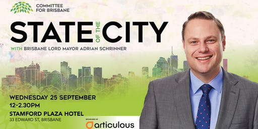 Annual Lord Mayor's State of the City Address - Lord Mayor Adrian Schrinner