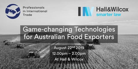 Game-changing Technologies for Australian Food Exporters tickets
