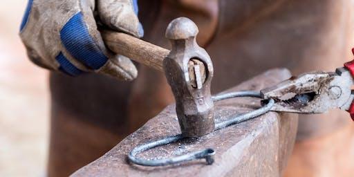 Beginner blacksmithing - fire poker