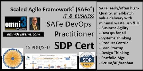 ~DevOps_(SDP Cert)-SAFe-DevOps-Practitioner-St. Louis -15-PDUs tickets