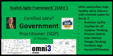 ~SGP- SAFe Government Practitioner [SGP] St. Louis,15 PDUs tickets