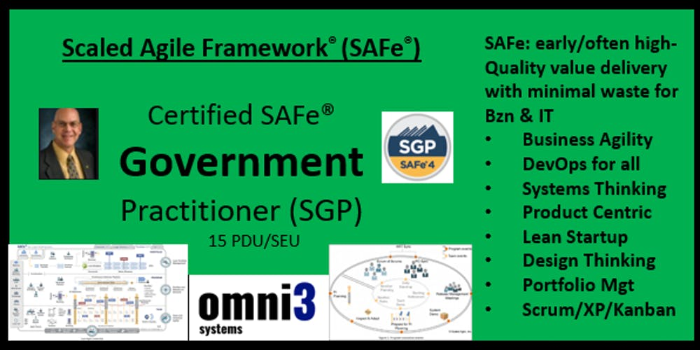 ~SGP- SAFe Government Practitioner [SGP] St  Louis,15 PDUs