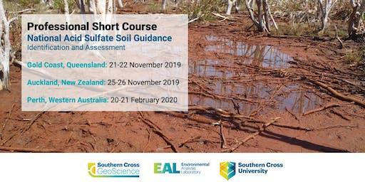 Professional Short Course: Acid Sulfate Soils Guidance (New Zealand)