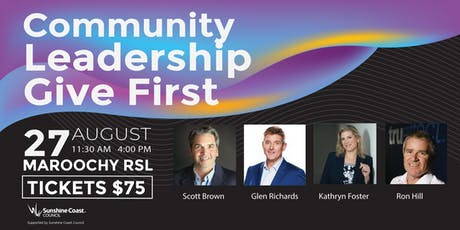 Community. Leadership. GiveFirst tickets