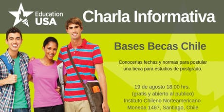 Bases Becas Chile Charla tickets