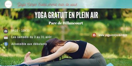 Yoga Gratuit en plein air billets