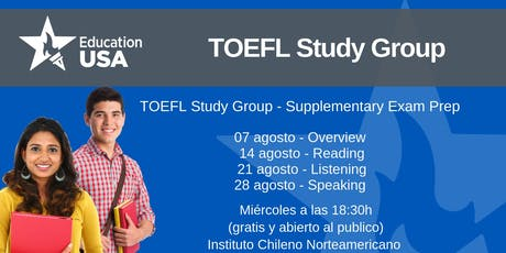 TOEFL Study Group Agosto tickets