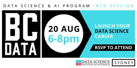 Career Change to Data Science & Artificial Intelligence - Industry Info Session - Sydney tickets