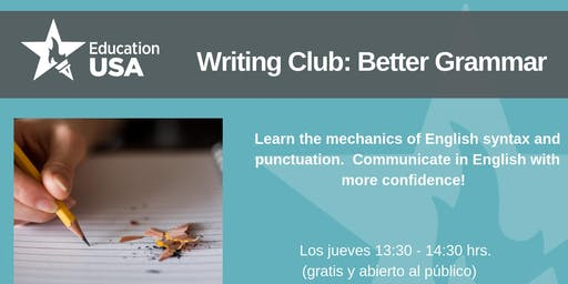 Writing Club Agosto - Better Grammar