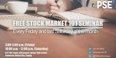 PSEs FREE Stock Market 101 Seminar (Metro Manila)