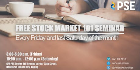 PSE's FREE Stock Market 101 Seminar (Metro Manila) tickets