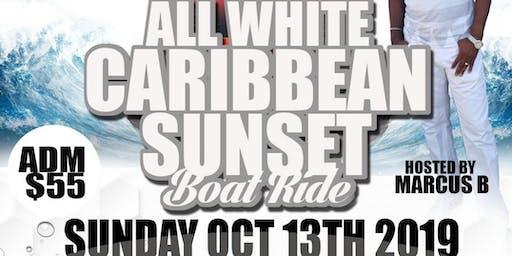 All White Caribbean Sunset Boat Ride