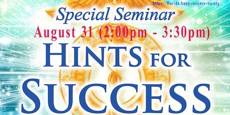 """Meditation Seminar """"Hints for Success"""" tickets"""