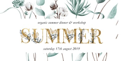 Organic Summer Dinner with Essential Oils