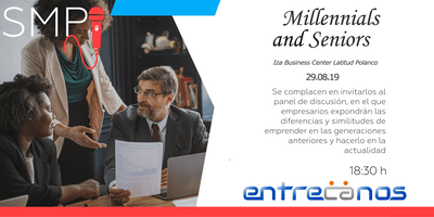 Panel de discusión empresarios exitosos Millenials vs Seniors