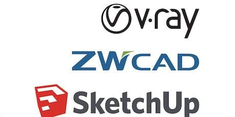Easy workflow (cad+sketchup+vray) (half day) tickets