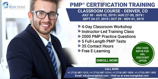 PMP® Certification Training Course in Denver, CO, USA | 4-Day PMP Boot Camp with PMI Membership Included.