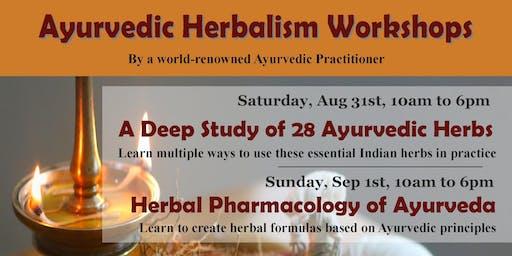 1 day Workshop: Herbal Pharmacology of Ayurveda