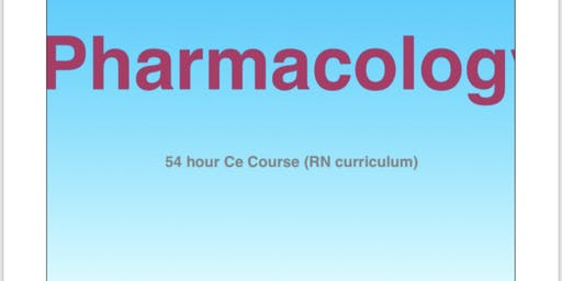 Intro to Pharmacology (In class course)