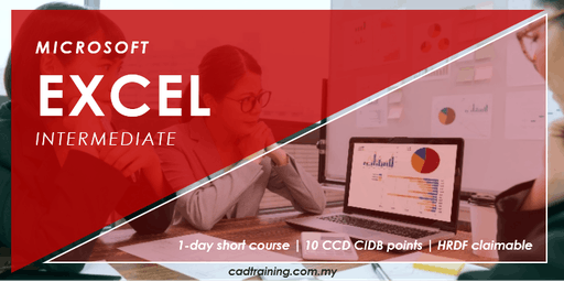 Microsoft Excel Intermediate | MS Excel | 1-day Short Course | 10 CCD CIDB points
