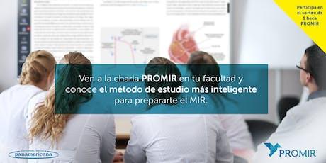 Charla PROMIR en la Facultad de Medicina Valencia tickets