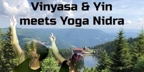 Good Morning Yoga: Vinyasa, & Yin meets Yoga Nidra am Mummelsee billets