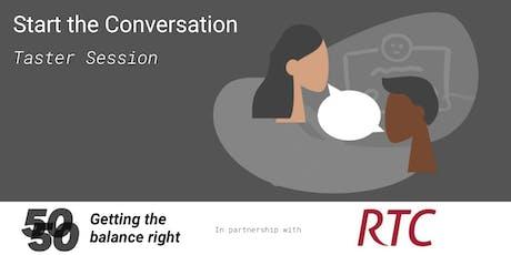 Gender Balance in the Workplace: Start the Conversation Taster tickets