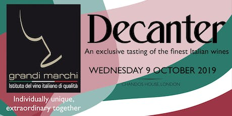 Decanter - Grandi Marchi Trade Tasting tickets