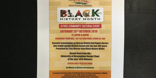 Black History Month Cultural Event Showcase