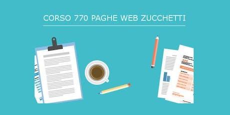 Corso 770 2019| PAGHE WEB ZUCCHETTI biglietti