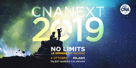 CNA Next 2019 - NO LIMITS Le imprese dei giovani. biglietti