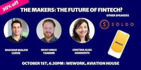The Makers Live Podcast: The Future of FinTech tickets