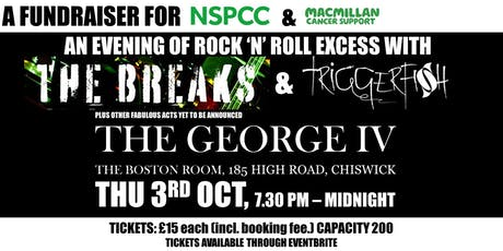 The Breaks and Triggerfish at the George 4 Chiswick tickets