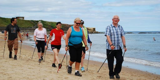 Nordic Walking at Tynemouth Beach