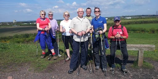 Nordic Walking at the Rising Sun Country Park, North Tyneside