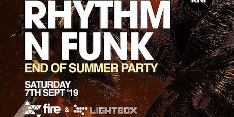 Rhythm n Funk Summer Send Off Party tickets