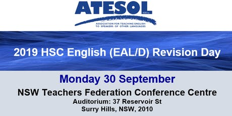 2019 ATESOL NSW HSC (EAL/D) English Revision Day tickets