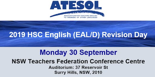 2019 ATESOL NSW HSC (EAL/D) English Revision Day