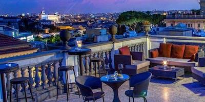 Aperitivo Stellato Sulla Terrazza Panoramica Del G Roma