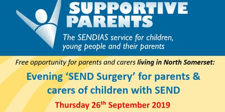 North Somerset Evening SEND Surgery, 26th September, time slots between 6-8pm tickets