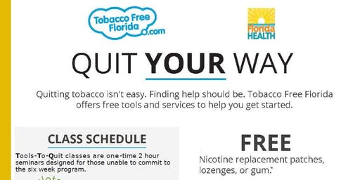 Tools to Quit with Tobacco Free Florida