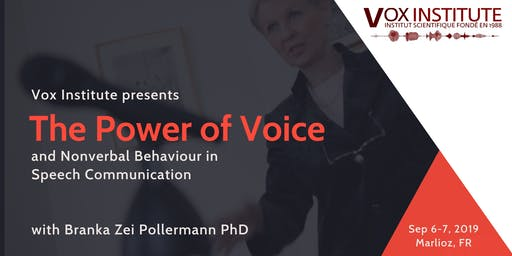 The Power of Voice & Non-Verbal Behaviour in Speech Communication