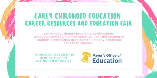 Early Childhood Education Career Resources and Education Fair