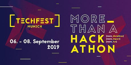 TECHFEST Munich 2019 – Visitor Tickets tickets