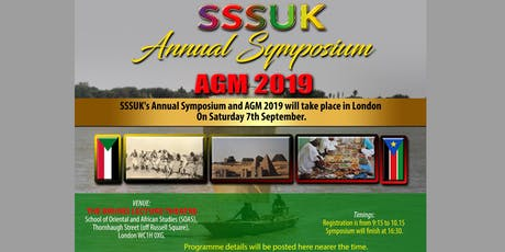 Society for the Study of the Sudans, UK (SSSUK): Annual Symposium and AGM 2019 tickets